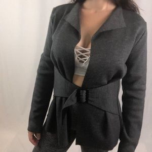 Made In Italy |  Belt Attached jacket blazer